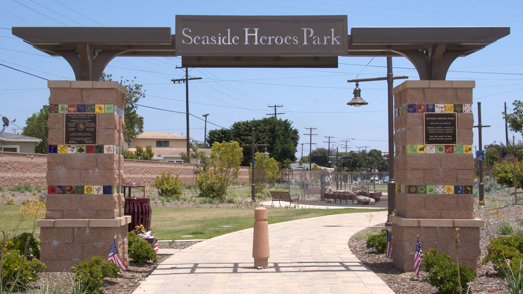 Seaside Heroes Park Entrance